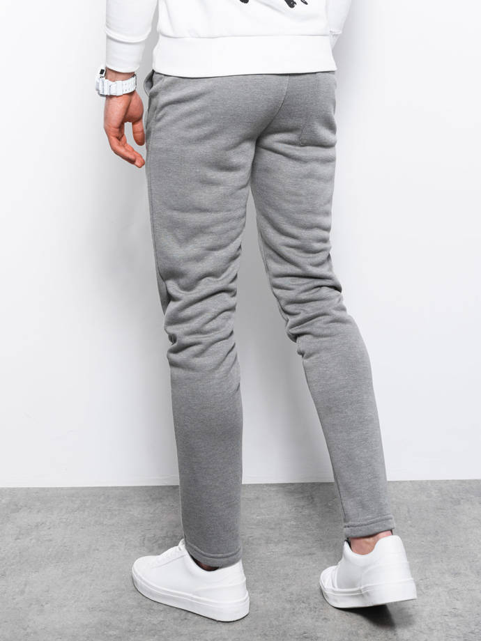Men's sweatpants P866 - grey/melange