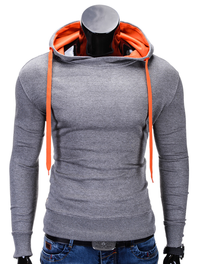 Men's sweatshirt B377 - dark grey