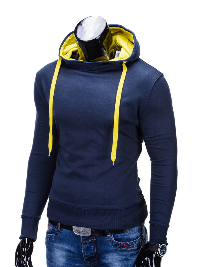 Men's sweatshirt B377 - navy/yellow