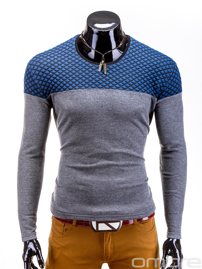 Men's sweatshirt B444 - grey/navy