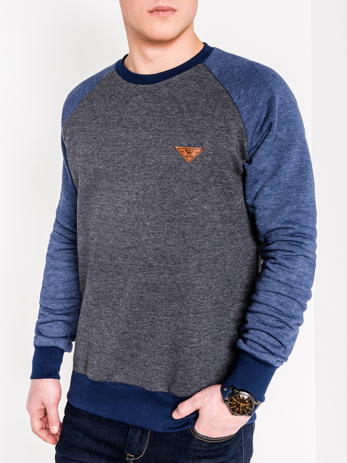 Men's sweatshirt B453 - dark grey