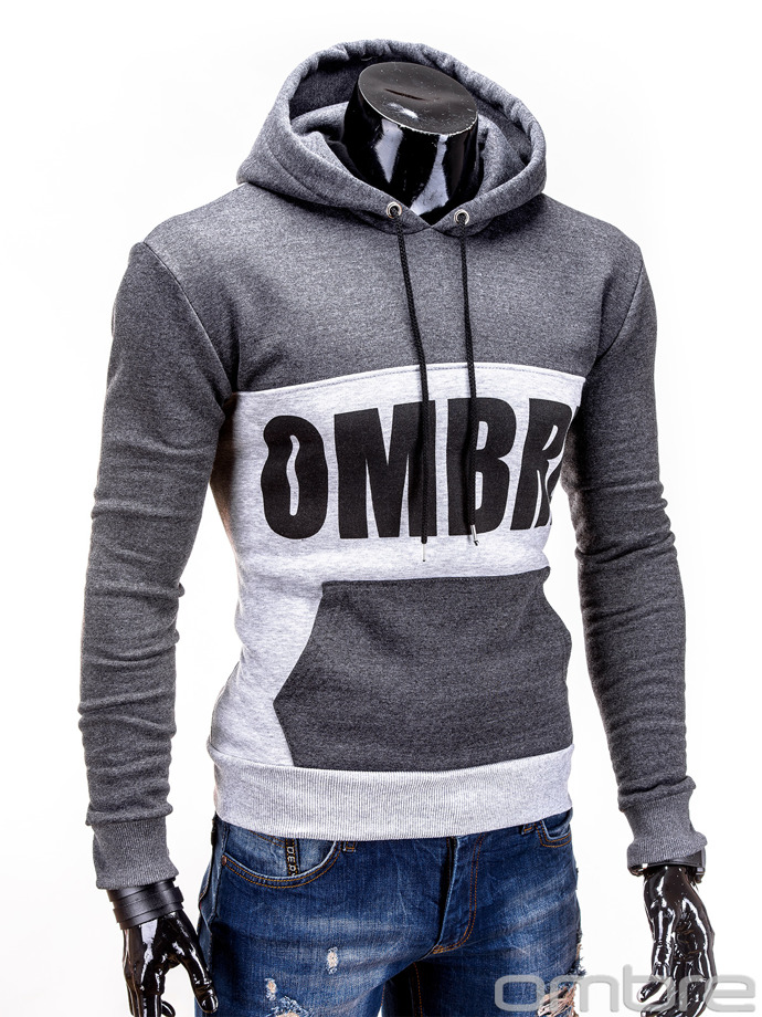 Men's sweatshirt B456 - dark grey