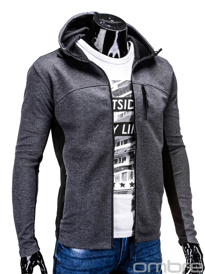 Men's sweatshirt B571 - dark grey