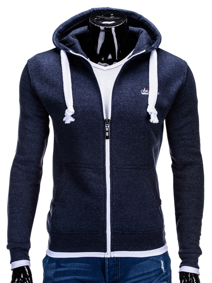 Men's sweatshirt B587 - navy