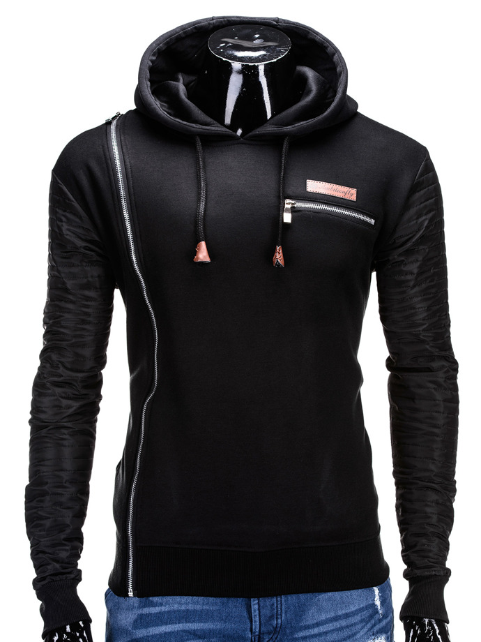 Men's sweatshirt B591 - black
