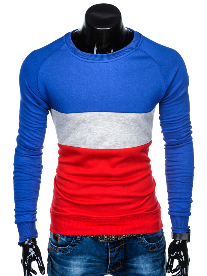 Men's sweatshirt B896 - blue