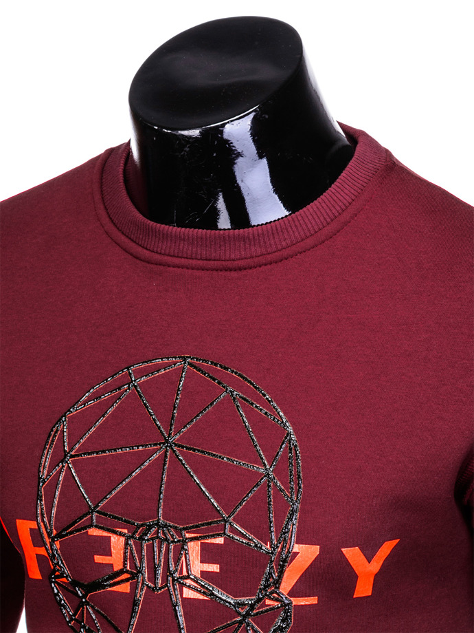Men's sweatshirt B907 - dark red
