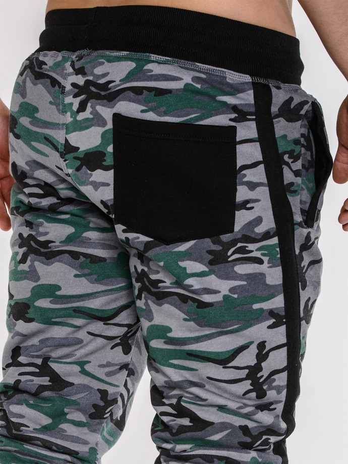 Men's sweatshorts camo P288 - green
