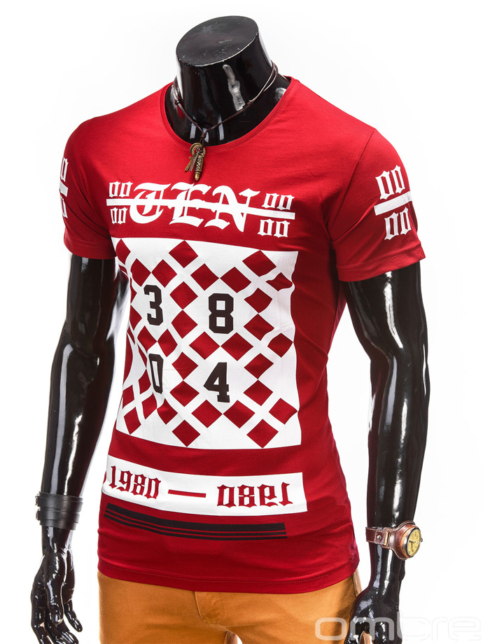 Men's t-shirt S391 - red