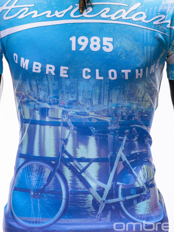 Men's t-shirt S402 - light blue
