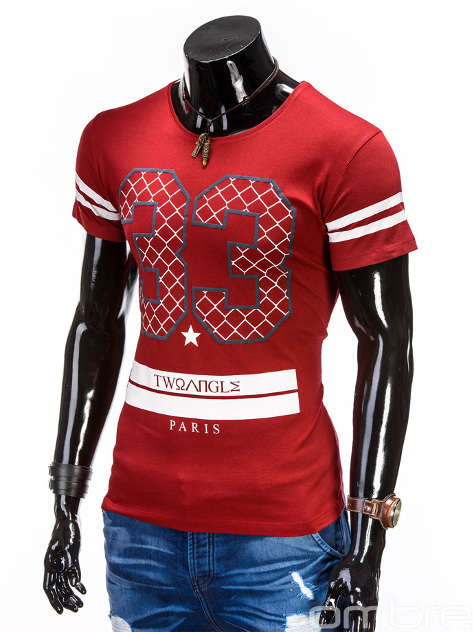 Men's t-shirt S447 - red