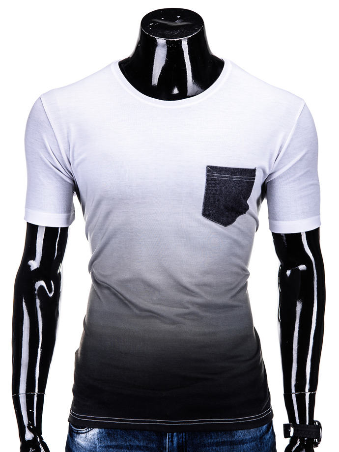 Men's t-shirt S500 - white/dark grey