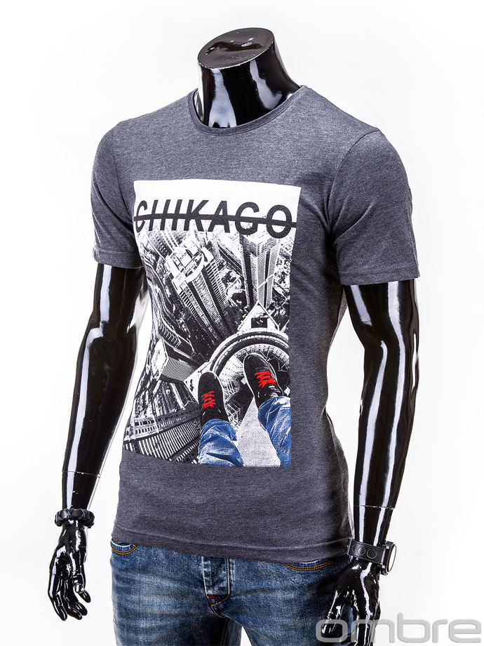 Men's t-shirt S523 - dark grey