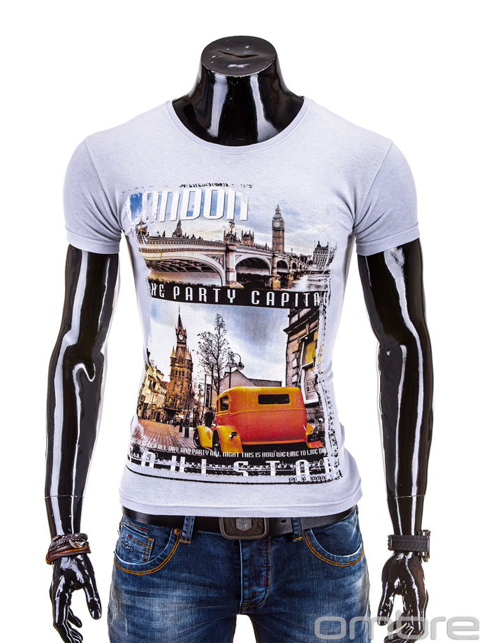Men's t-shirt S567 - grey