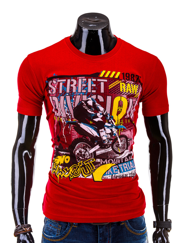 Men's t-shirt S585 - red