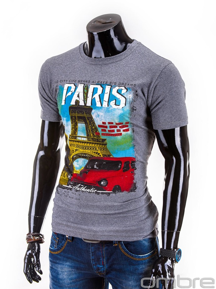 Men's t-shirt S586 - grey