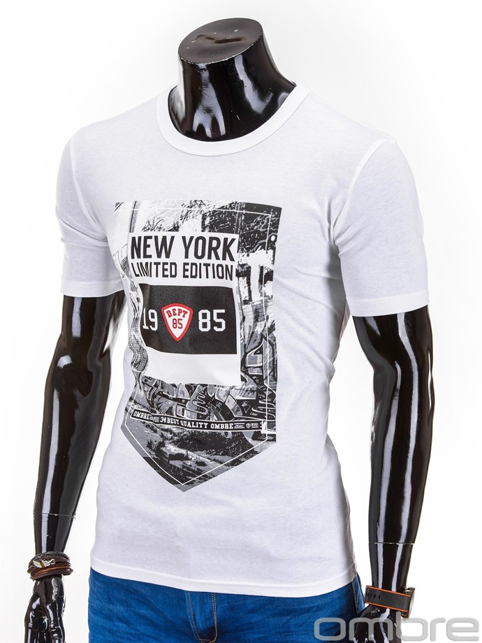 Men's t-shirt S610 - white