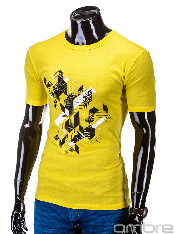 Men's t-shirt S617 - yellow