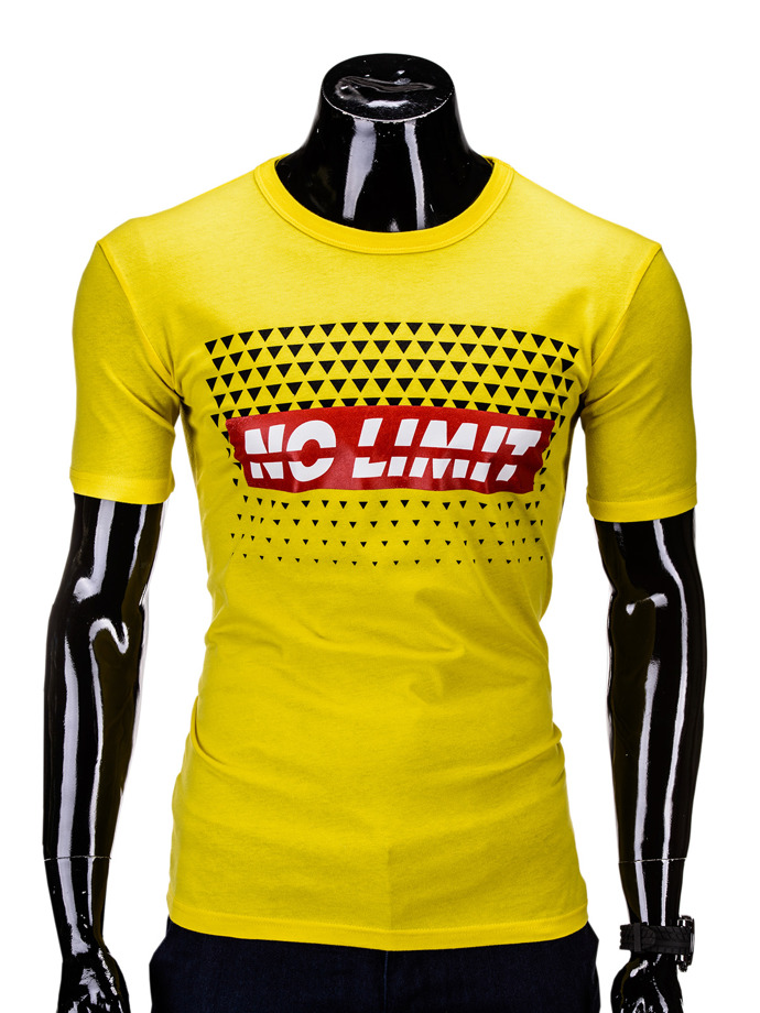 Men's t-shirt S619 - yellow