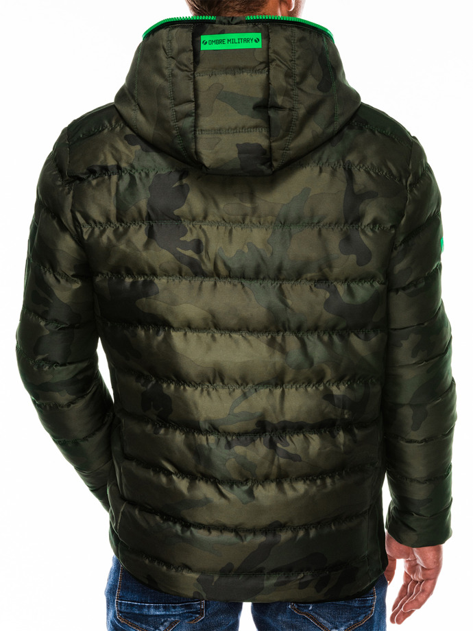 Men's winter jacket C367 - camo/green