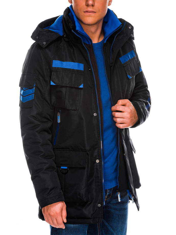Men's winter jacket C379 - black