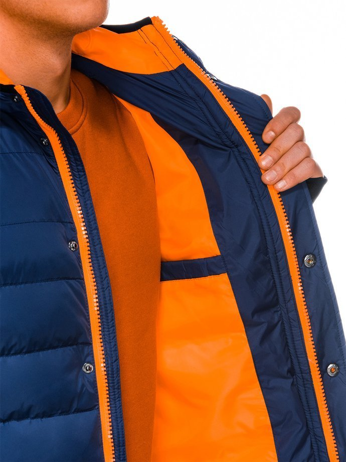 Men's winter quilted jacket C124 - navy
