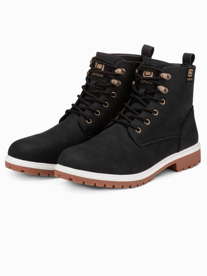 Men's winter shoes trappers T314 - black