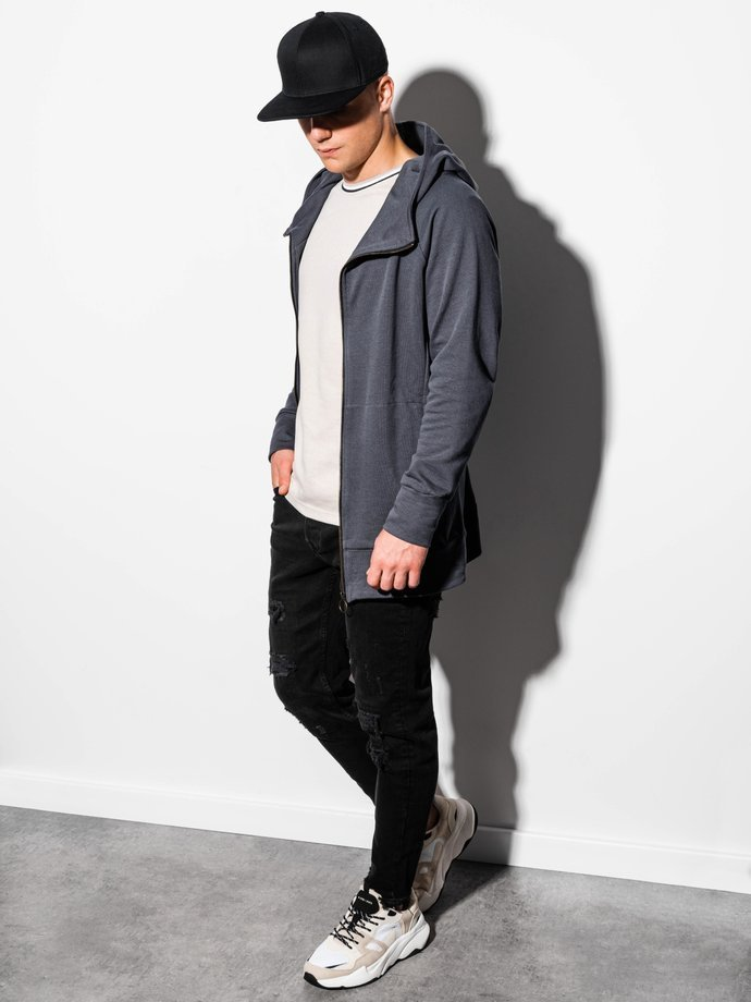 Men's zip-up hoodie B1017 - grey