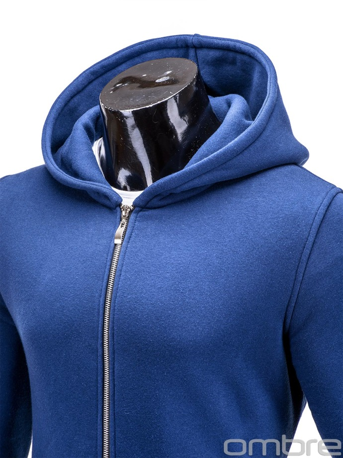Men's zip-up hoodie B326 - navy