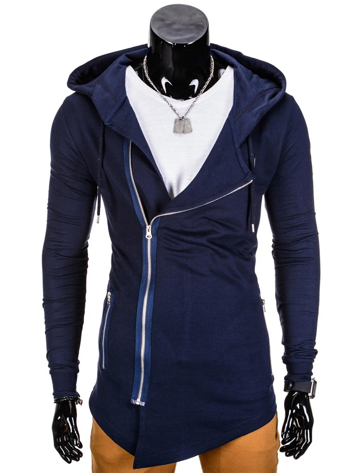 Men's zip-up hoodie B680 - navy