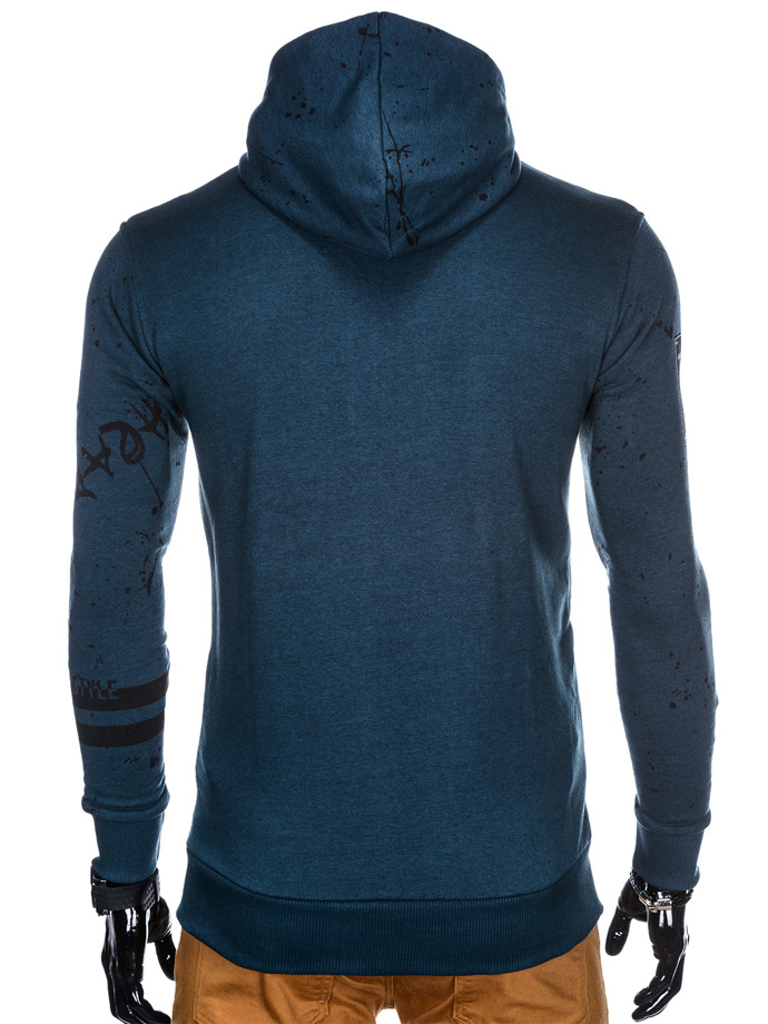 Men's zip-up hoodie B806 - blue