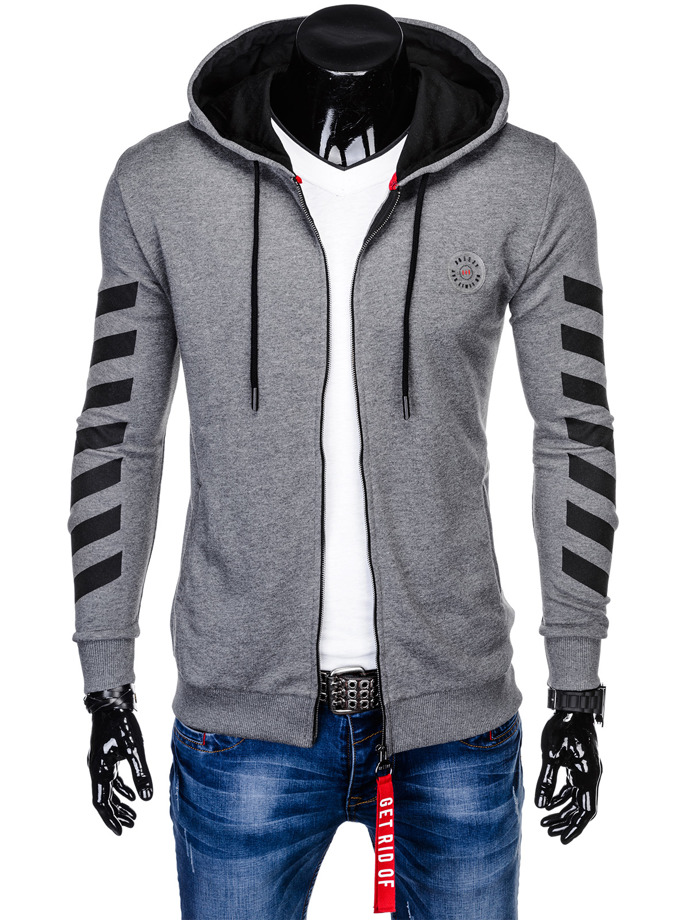 Men's zip-up hoodie B903 - dark grey