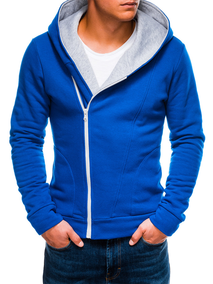 Men's zip-up hoodie PRIMO - blue/grey