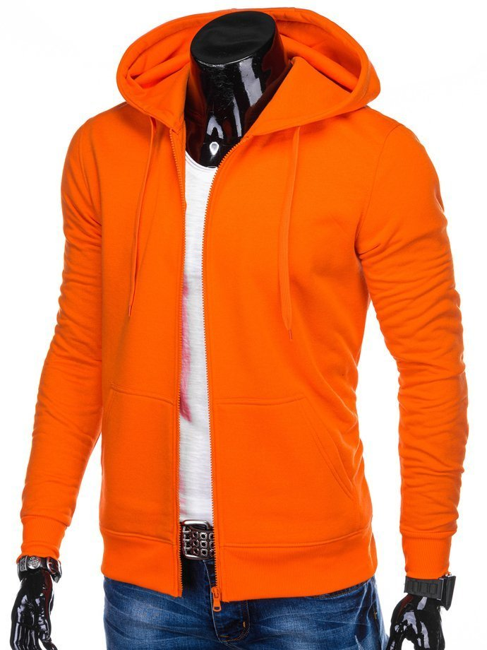 Men's zip-up sweatshirt B895 - orange