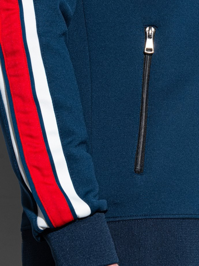 Men's zip-up sweatshirt B975 - navy