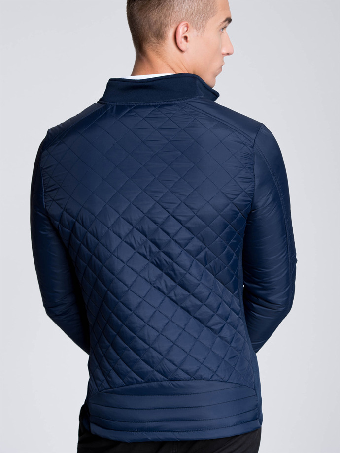 Mid-season quilted men's jacket C174 - navy