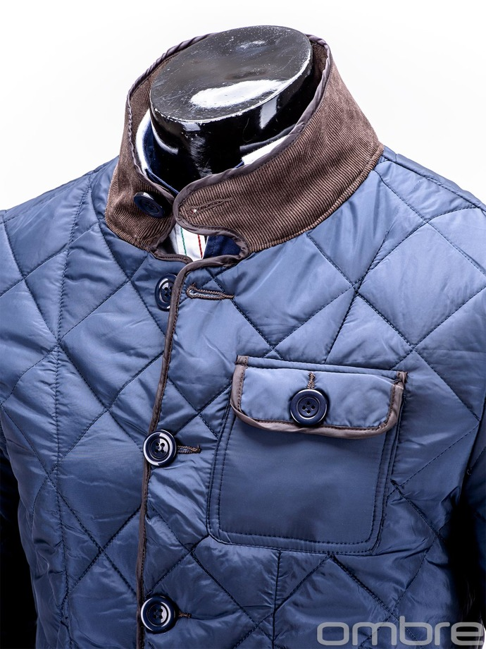 Mid-season quilted men's jacket MAXIMO - navy