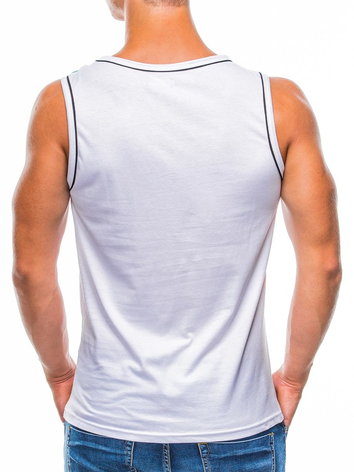 Men's printed tank top S783 - white