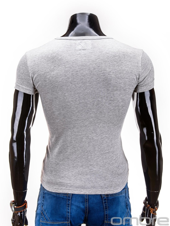 Plain men's t-shirt S606 - grey