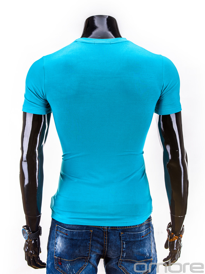 Printed men's t-shirt S563 - turquoise
