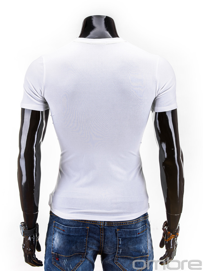 Printed men's t-shirt S563 - white