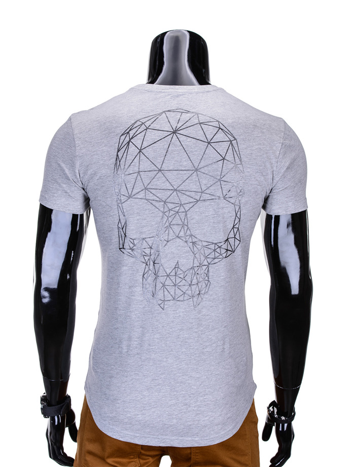 Printed men's t-shirt S772 - grey