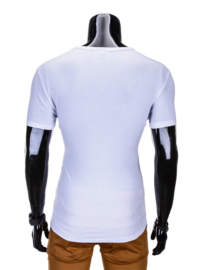 Printed men's t-shirt S792 - white