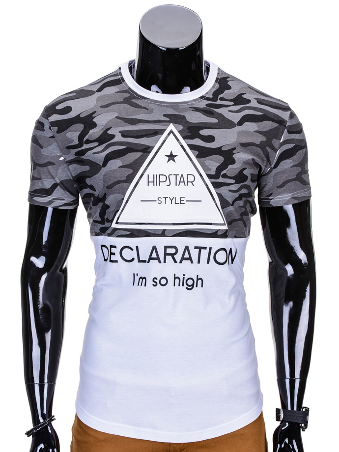 Printed men's t-shirt S793 - white