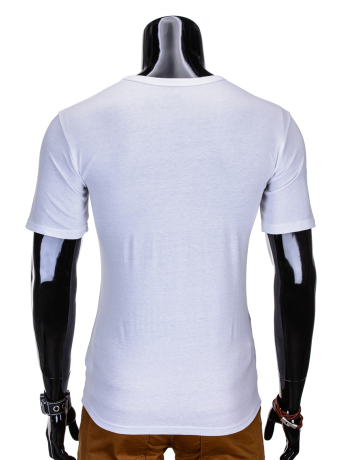 Printed men's t-shirt S816 - white