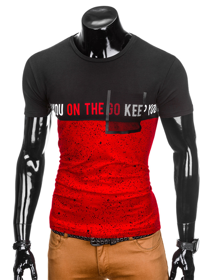 Printed men's t-shirt S867 - red