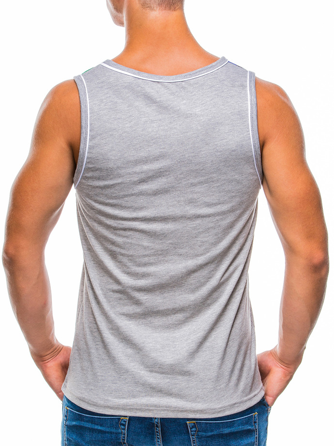 Printed men's tank top S779 - grey