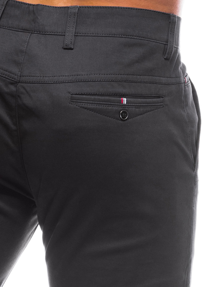 Men's pants chinos P779 - black