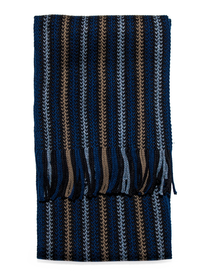 Men's scarf A110 - navy/grey