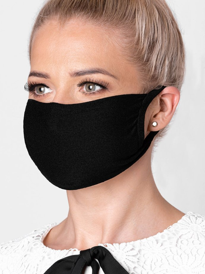 Women's mask with a filter pocket A262 - black